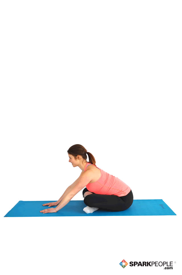 Seated Cross-Legged Forward Bend Exercise