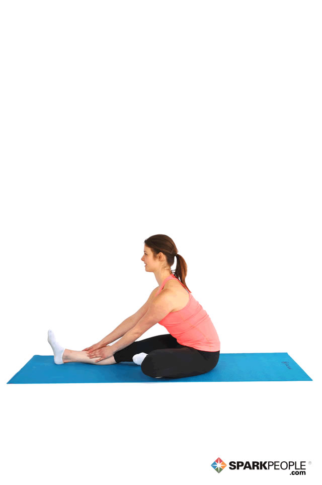 Seated Modified Hurdler Stretch Exercise