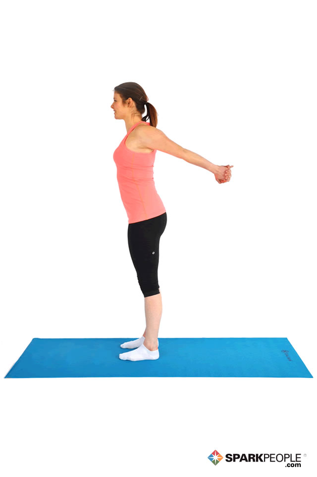 Standing Chest Stretch Exercise