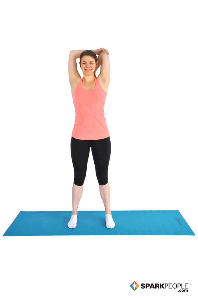 Standing Triceps Stretch Exercise