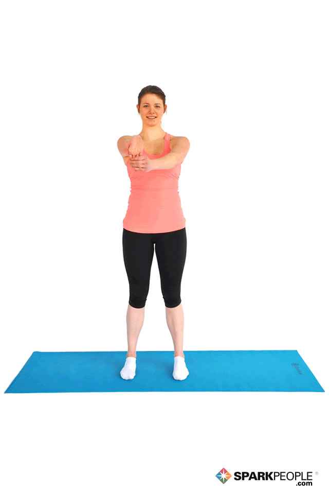 Standing Wrist/Biceps Stretch Exercise