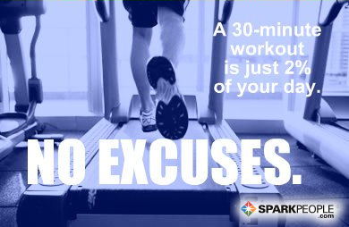 Motivational Quote - A 30-minute workout is just 2% of your day. No excuses.
