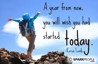 Motivational Quote - A year from now, you will wish that you started today.