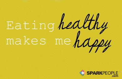 Motivational Quote - Eating healthy makes me happy