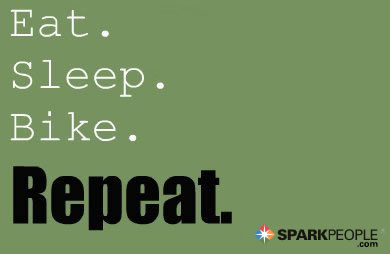 Motivational Quote - Eat. Sleep. Bike. Repeat.
