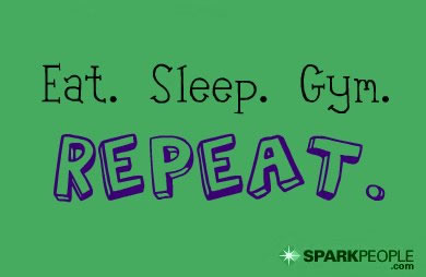 Motivational Quote - Eat. Sleep. Gym. Repeat.