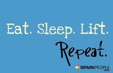 Motivational Quote - Eat. Sleep. Lift. Repeat.