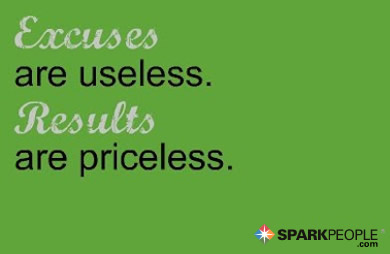 Motivational Quote - Excuses are useless. Results are priceless.