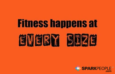 Motivational Quote - Fitness happens at every size.