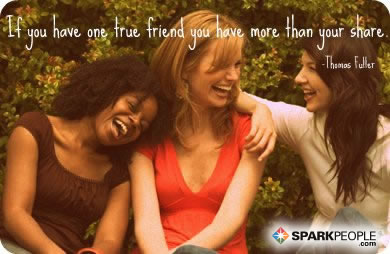 Motivational Quote - If you have one true friend you have more than your share.