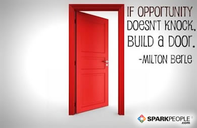Motivational Quote - If opportunity doesnu0027t knock build a door.  sc 1 st  SparkPeople : knock door - Pezcame.Com