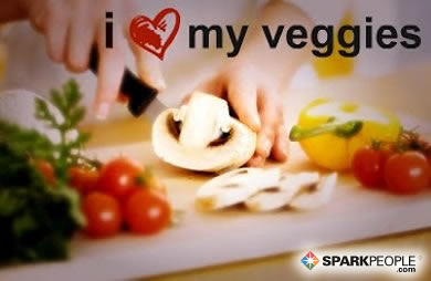 Motivational Quote - I <3 my veggies