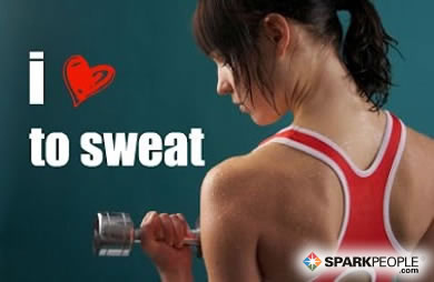 Motivational Quote - I <3 to sweat