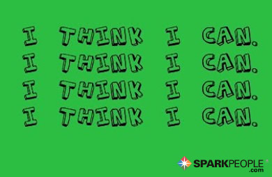 Motivational Quote - I think I can. I think I can. I think I can. I think I can.