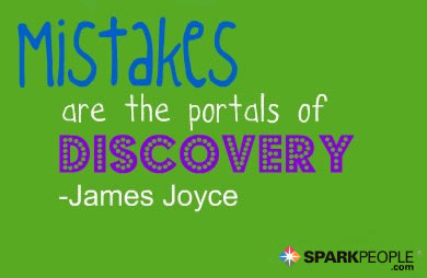 Motivational Quote - Mistakes are the portals of discovery.