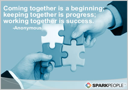 Motivational Quote - Coming together is a beginning; keeping together ...