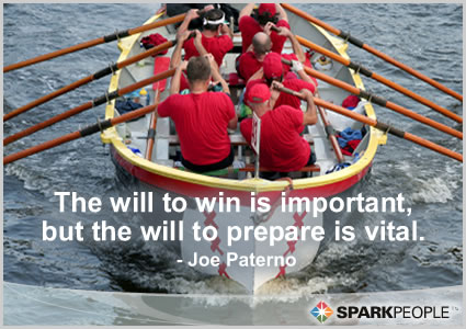 Motivational Quote - The will to win is important, but the will to prepare is vital.