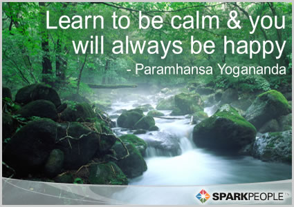 Motivational Quote - Learn to be calm and you will always be happy