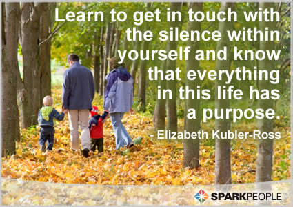 Motivational Quote - Learn to get in touch with the silence within yourself and know that everything in this life has a purpose.