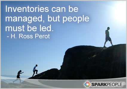 Motivational Quote - Inventories can be managed, but people must be led.