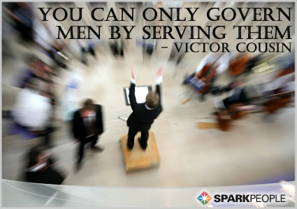 Motivational Quote - You can only govern men by serving them