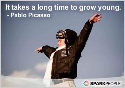 Motivational Quote - It takes a long time to grow young.