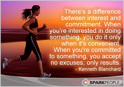 Motivational Quote - There's a difference between interest and commitment. When you're interested in doing something, you do it only when it's convenient. When you're committed to something, you accept no excuses; only results.