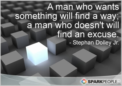 Motivational Quote - A man who wants something will find a way; a man who doesn�t will find an excuse.