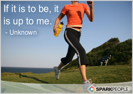 Motivational Quote - If it is to be, it is up to me.