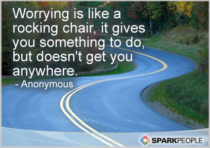 Motivational Quote - Worrying is like a rocking chair, it gives you something to do, but doesn�t get you anywhere.