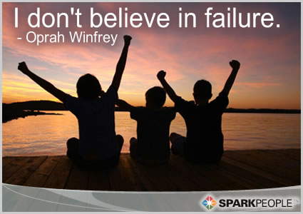 Motivational Quote - I don't believe in failure.