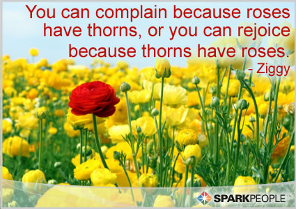Motivational Quote - You can complain because roses have thorns, or you can rejoice because thorns have roses.
