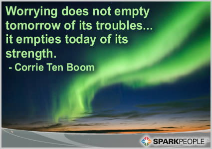 Motivational Quote - Worrying does not empty tomorrow of its troubles�. it empties today of its strength.