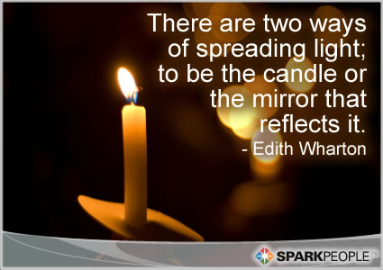 Motivational Quote - There are two ways of spreading light; to be the candle or the mirror that reflects it.