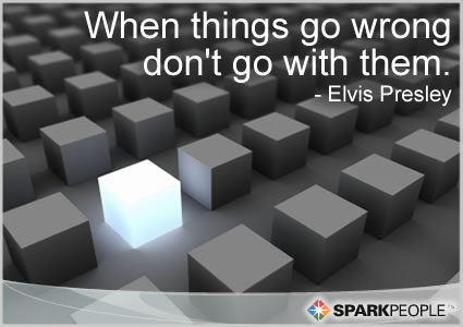 Motivational Quote - When things go wrong don�t go with them.