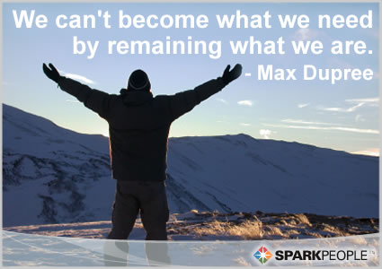 Motivational Quote - We can't become what we need by remaining what we are.