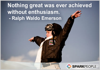 Motivational Quote - Nothing great was ever achieved without enthusiasm.