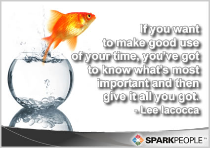 Motivational Quote - If you want to make good use of your time, you've got to know what's most important and then give it all you got.