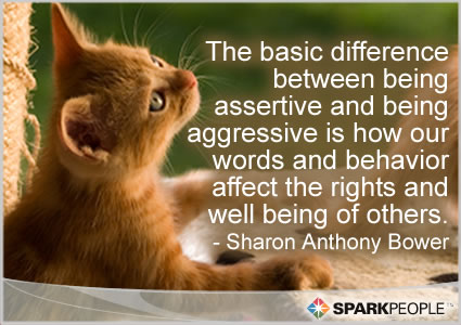 Pictures Quotes on Motivational Quote   The Basic Difference Between Being Assertive And
