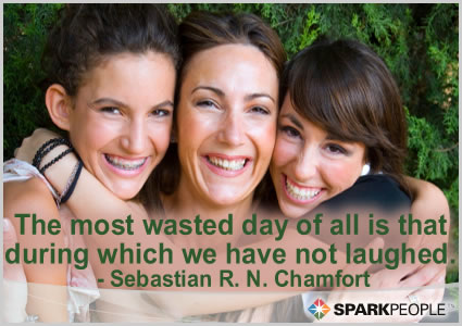 Motivational Quote - The most wasted day of all is that during which we have not laughed.