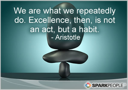 Motivational Quote - We are what we repeatedly do.  Excellence, then, is not an act, but a habit.