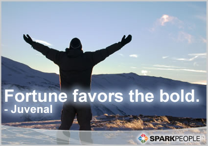 Motivational Quote - Fortune favors the bold.