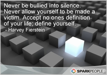 never be bullied into silence never allow yourself to be ma