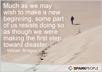 Motivational Quote - Much as we may wish to make a new beginning, some part of us resists doing so as though we were making the first step toward disaster.