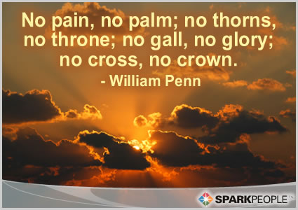 Motivational Quote - No pain, no palm; no thorns, no throne; no gall, no glory; no cross, no crown.