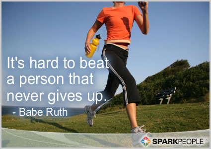 Motivational Quote - It's hard to beat a person that never gives up.