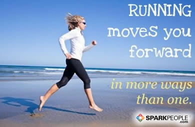 Motivational Quote - Running moves you forward in more ways than one