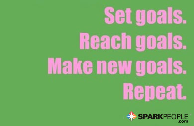 Motivational Quote - Set goals. Reach goals. Make new goals. Repeat.