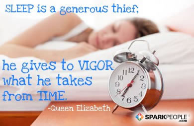 Motivational Quote - Sleep is a generous thief; he gives to vigor what he takes from time.