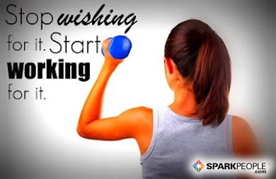 Motivational Quote - Stop wishing for it and start working for it.